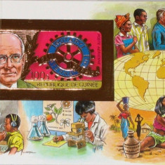 GUINEA 1984 ROTARY FOITA DE AUR COTA MICHEL 50 EURO