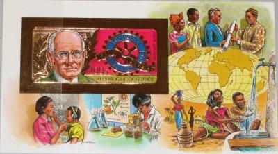 GUINEA 1984 ROTARY FOITA DE AUR COTA MICHEL 50 EURO foto