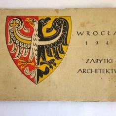 Album de 11 carti postale din Polonia Wroclaw 1948 zabytki architektura, Necirculata, Printata