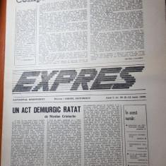 ziarul expres 8-14 iunie 1990-dialog cu octavian paler