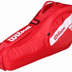 Junior 3 2018 geanta rachete rosu - Geanta tenis Wilson