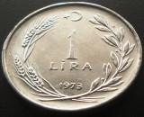 Moneda 1 LIRA TURCEASCA - TURCIA, anul 1973 *cod 2236 --- A.UNC, Europa