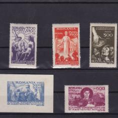 ROMANIA 1947  LP 206  LP 207  SECETA   COLITA SI  SERIE  MNH