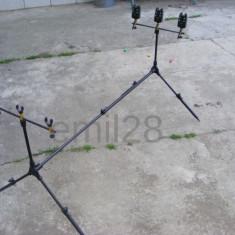 Rod pod - Rodpod pentru 3 lansete + 3 Avertizori Wind Blade + 3 Swingere