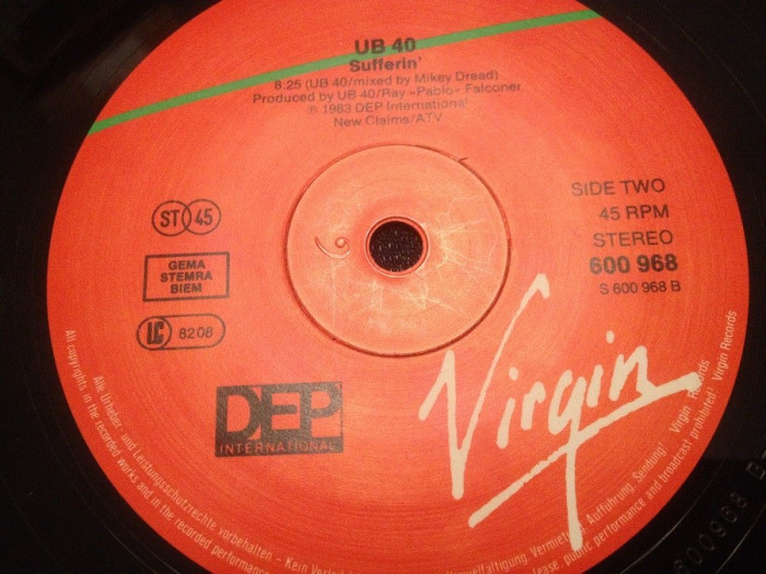 "UB40 - RED RED WINE (1983/DEP INT/W.Germany) - VINIL Maxi-Single ""12/NM"