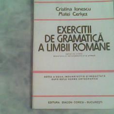 Exercitii de gramatica a limbii romane-Cristina Ionescu, Matei Cerkez - Culegere Romana