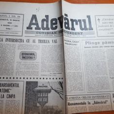 ziarul adevarul 10 martie 1990-articol despre minerii din valea jiului