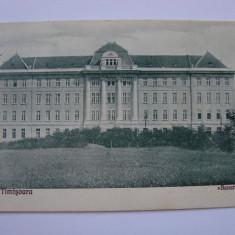 Carte postala Timisoara, Liceul Banatia - necirculata anul tiparirii 1926, Printata