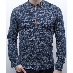 Camasa barbat - camasa bleumarin ancore camasa slim fit camasa elastica cod 139