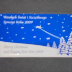 CARD FIDELITATE ANIVERSAR CRACIUN 2009- COMPANIA AVIATICA LOT- POLONIA. - Cartela telefonica straina