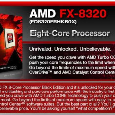Kit gaming amd fx 8320 Placa de Baza Asrock+procesor+cooler performant+4 gb ram 1600mhz, Pentru AMD, AM3+, DDR 3, Contine procesor, ATX