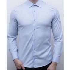 Camasa bleu barbat - camasa slim fit camasa barbat camasa eleganta cod 161