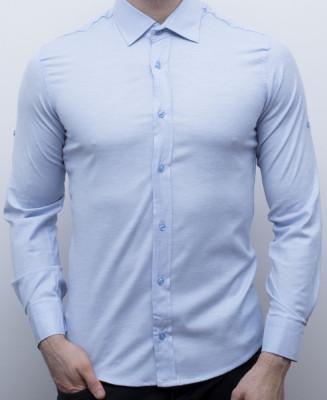 Camasa bleu barbat - camasa slim fit camasa barbat camasa eleganta cod 161 foto