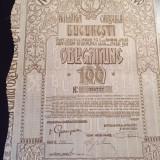 Obligatiune Municipala Bucuresti 1921