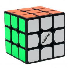Cub Rubik Profesional de Speedcubing Valk 3, plastic negru