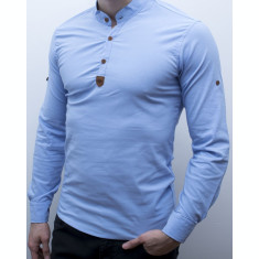 Camasa - camasa bleu - camasa slim fit - camasa elastica - cod 134
