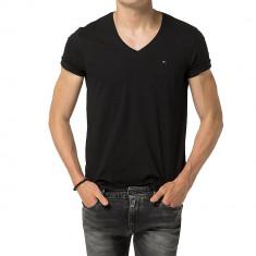 Tricou Tommy Hilfiger Denim V-nk B.-XXL - Tricou barbati Tommy Hilfiger, Culoare: Negru