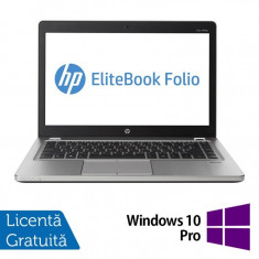 Laptop Refurbished HP EliteBook Folio 9470M, Intel Core i5-3427U 1.80GHz, 4GB DDR3, 320GB SATA, Webcam, 14 inch + Windows 10 Pro - Monitor LCD Samsung, 22 inch, 1920 x 1080