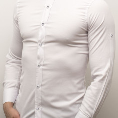 Camasa alba barbat - camasa slim fit camasa alba camasa eleganta cod 159