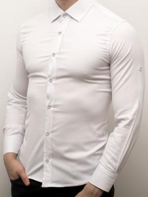 Camasa alba barbat - camasa slim fit camasa alba LICHIDARE STOC cod 159 foto