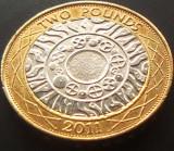 Moneda bimetal 2 Pounds (Lira Sterlina) - ANGLIA, anul 2011  *cod 805  / XF, Europa