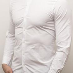 Camasa barbat - camasa tunica camasa slim fit camasa alba camasa nunta cod 141, L, XXL, Maneca lunga, Din imagine