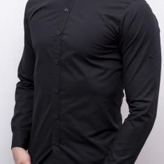 Camasa barbat - camasa tunica camasa slim fit camasa neagra camasa nunta cod 147, M, XL, XXL, Maneca lunga, Din imagine