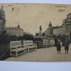 Carte postala circulata, Arad - Parcul 1918 - Carte Postala Crisana dupa 1918, Printata