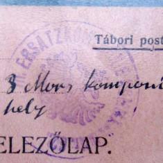 CARTE POSTALA MILITARA WW1 ( World War I 1914-1918) Feldpost K.u.K. - Carte postala tematica, Circulata, Printata