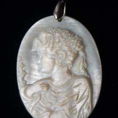 CAMEE DIN SCOICA - Brosa argint