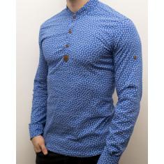 Camasa barbat - camasa albastra ancore camasa slim fit camasa elastica cod 138