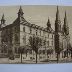 Carte postala Timisoara, Scoliile surorilor Notre Dame - necirculata 1925, Printata