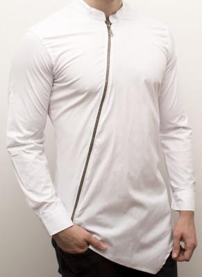 Camasa - camasa slim fit camasa cu fermoar camasa barbat cod 135 foto