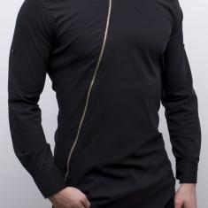 Camasa asimetrica  - camasa slim fit camasa cu fermoar camasa barbat cod 111