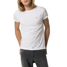 Tricou Tommy Hilfiger Denim C-nk W.-XL - Tricou barbati Tommy Hilfiger, Culoare: Alb