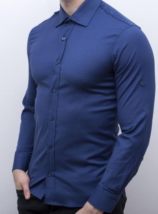 Camasa albastra barbat - camasa slim fit camasa barbat camasa eleganta cod 162