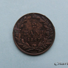 ROMANIA - 2 Bani 1867 Heaton - Moneda Romania