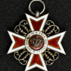 Decoratia Ordinul Coroana Romaniei, Cavaler Tip 1, Argint marcat