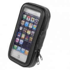 Husa De Protectie Telefon Mobil Suport Pentru Bicicleta, Universala, Negru, Vinyl