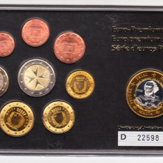 SET 9 MONEDE EURO - MALTA, Europa, An: 2008