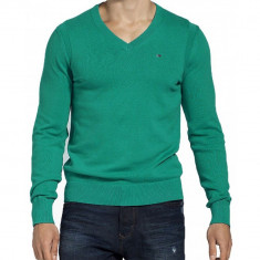 Pulover Tommy Hilfiger Pacific Premium Cotton V Nk Classic-L - Pulover barbati Tommy Hilfiger, Marime: L, Culoare: Verde