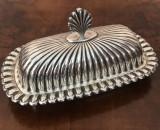 Nr. 548 Cutie argintata frantuzeasca Art Deco, pentru servit branzeturi., Sfesnic