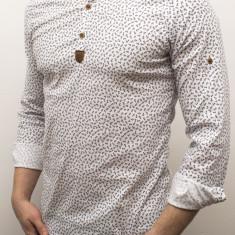 Camasa barbat - camasa alba ancore - camasa slim fit - camasa elastica cod 136