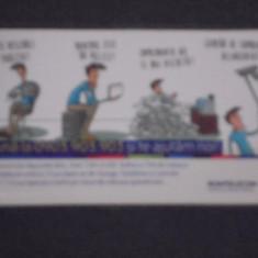 CARD FIDELITATE ROMTELECOM, CU DESENE CARICATURI - PE VERSO CALENDAR 2014. - Cartela telefonica romaneasca