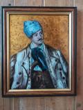 PICTURA PE STICLA - AVRAM IANCU, Portrete, Ulei, Altul