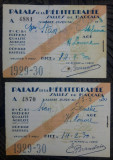 Lot 2 bilete Palais de la Mediterranee, salles de baccara// 1929-1930