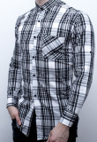 Camasa King Brothers - camasa slim fit camasa carouri camasa barbat cod 109, L, M, S, XL, Maneca lunga, Din imagine