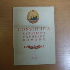 Constitutia Republicii Populare Romane 1952