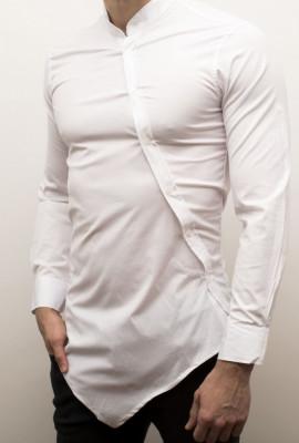 Camasa asimetrica - camasa lunga camasa fashion camasa barbat - cod 26 foto