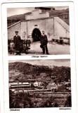 Ocna Dej Desakna CP aprox 1915 Intrarea in mina de sare si vedere generala, Necirculata, Printata